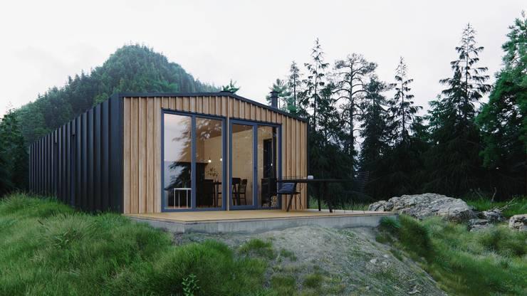 Модульный деревянный дом 53 кв.м: Дома с террасами в . Автор – Module dom