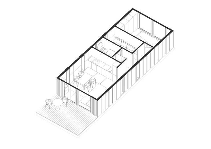Модульный деревянный дом 53 кв.м: Стены в . Автор – Module dom