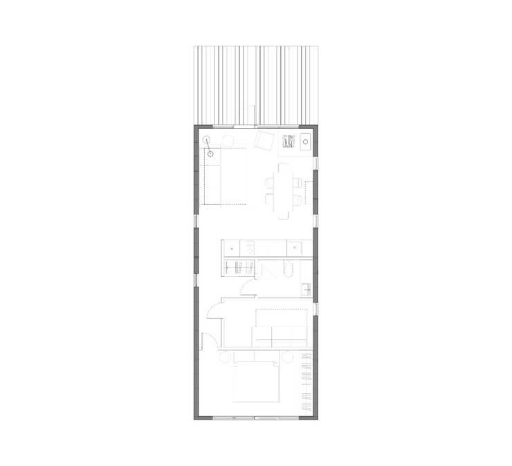 Модульный деревянный дом 53 кв.м: Столовые комнаты в . Автор – Module dom