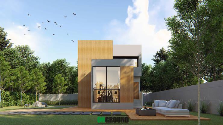 MINIMAL JAPANESE:  บ้านสำหรับครอบครัว by The OnGround บริษัทรับสร้างบ้านสไตล์ Modern Japanese