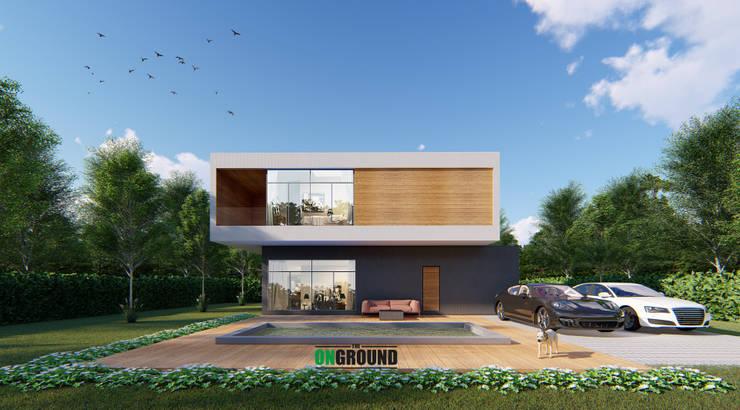 ฺBOXES HOUSE:  บ้านสำหรับครอบครัว by The OnGround บริษัทรับสร้างบ้านสไตล์ Modern Japanese
