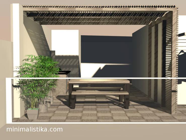 Terraza  Minimalista Industrial: Terrazas de estilo  por Minimalistika.com