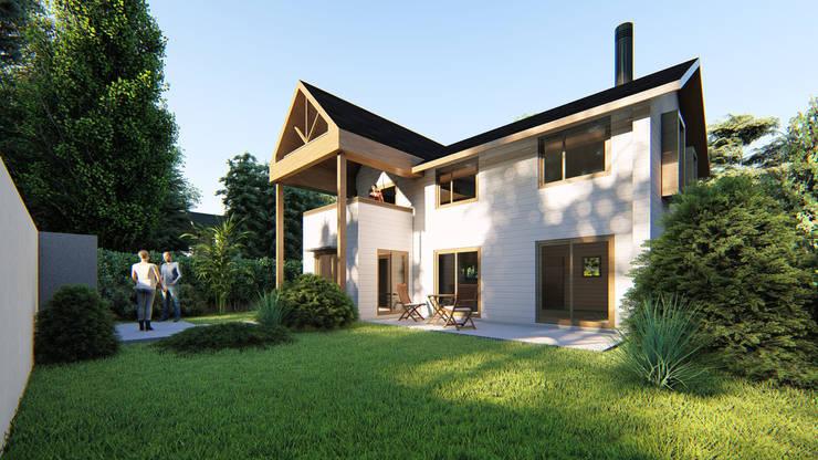 CASA 3A PITRUFQUEN: Casas unifamiliares de estilo  por AOG