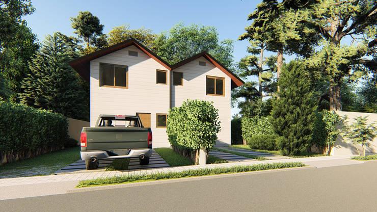 CASA PAREADA 2A: Casas pequeñas de estilo  por AOG