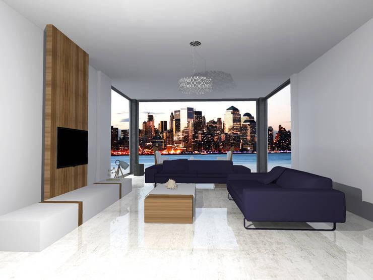 Living room تنفيذ SKY İç Mimarlık & Mimarlık Tasarım Stüdyosu