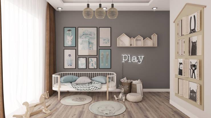 Dormitorios de bebé de estilo  por Rengin Mimarlık, Minimalista