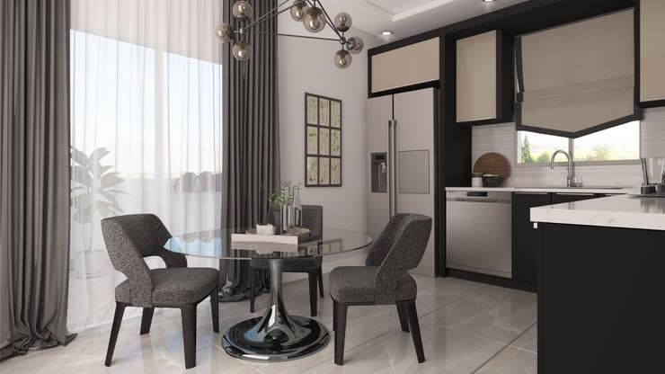 Cocinas pequeñas de estilo  por Rengin Mimarlık, Moderno