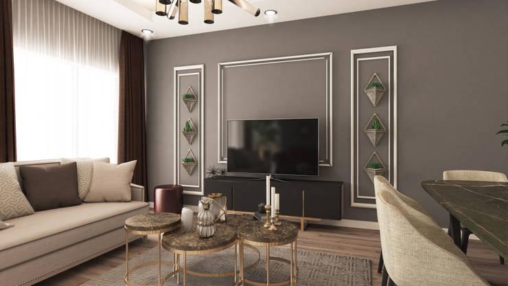 Livings de estilo  por Rengin Mimarlık, Moderno