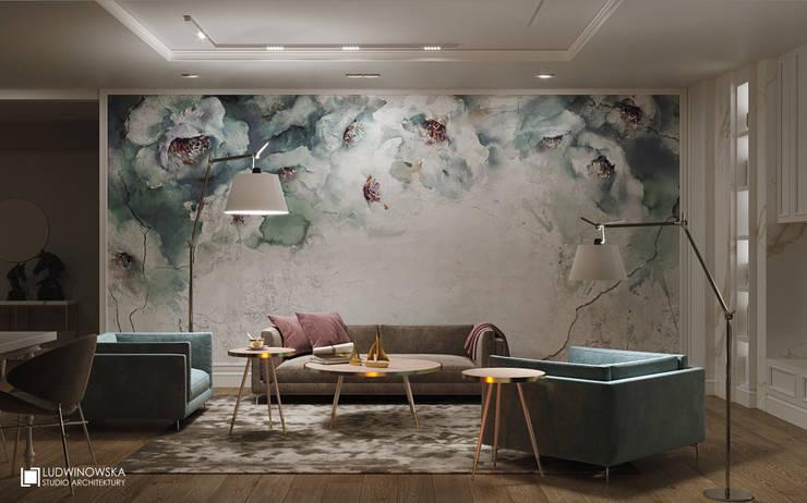 Living room by Ludwinowska Studio Architektury
