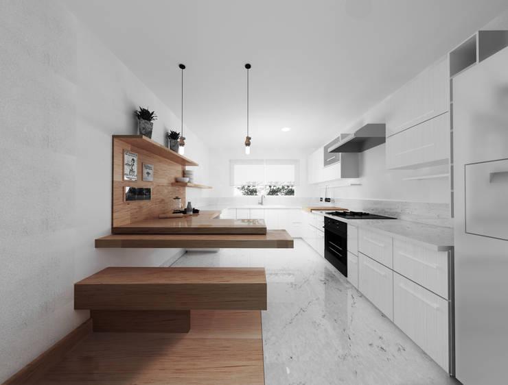 Cocina - Vista completa : Cocinas de estilo  por GA Experimental