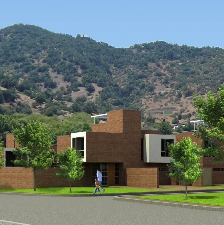 Casa San Carlos de Apoquindo: Casas unifamiliares de estilo  por AOG