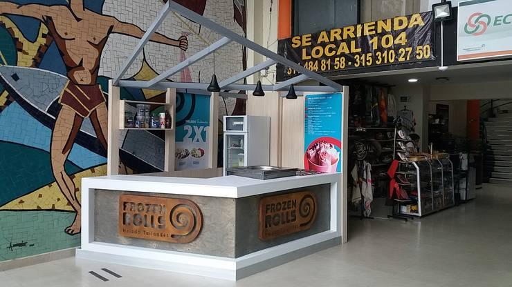 stand de helados Frozen rolls / Ibagué  - Tolima:  de estilo  por Taller 3M Arquitectura & Construcción
