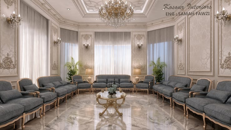 Living room by KOSOUR INTERIORS, Classic