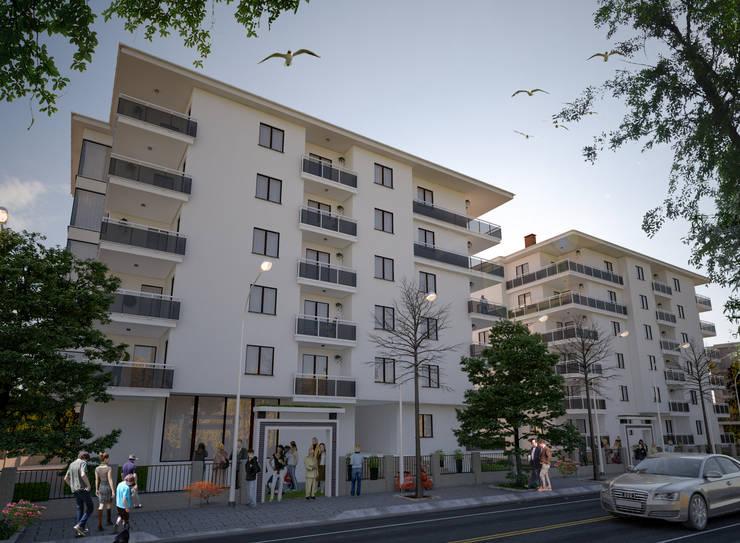 Autohäuser von Entropi Mimarlıkı Tasarım, Modern Holz Holznachbildung