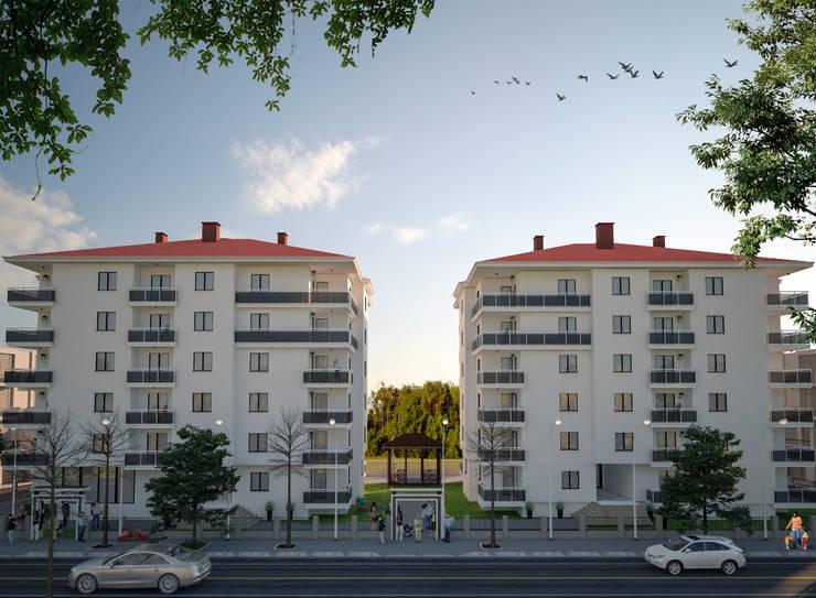Bürogebäude von Entropi Mimarlıkı Tasarım, Modern Beton