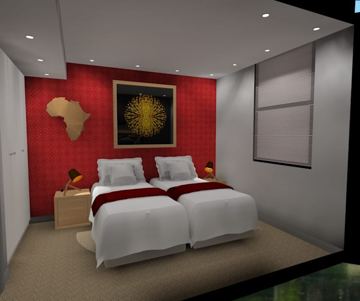 2nd bedroom:  Bedroom by AB DESIGN