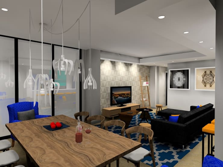 dining :  Living room by AB DESIGN