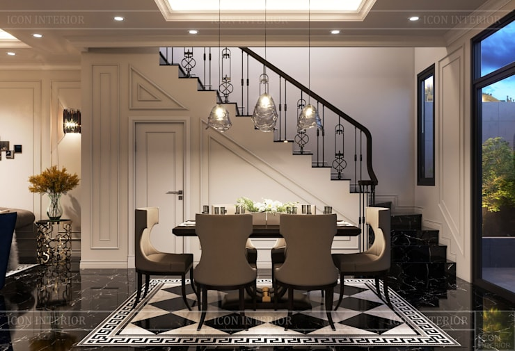Design for Villa – In Neoclassic Style:  Phòng ăn by ICON INTERIOR