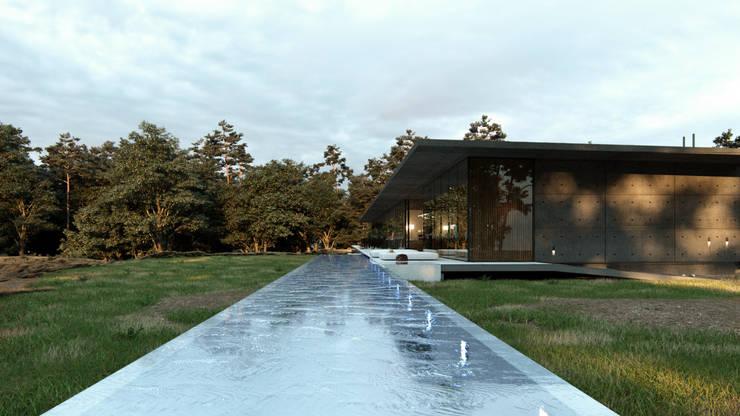 Canal de Nado: Albercas de estilo  por TW/A Architectural Group