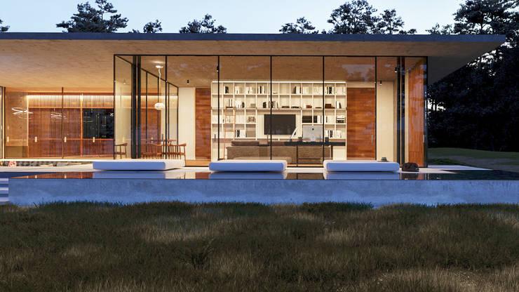 Estudio: Casas de campo de estilo  por TW/A Architectural Group