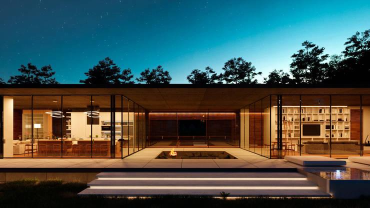 Fire pit: Balcones y terrazas de estilo  por TW/A Architectural Group