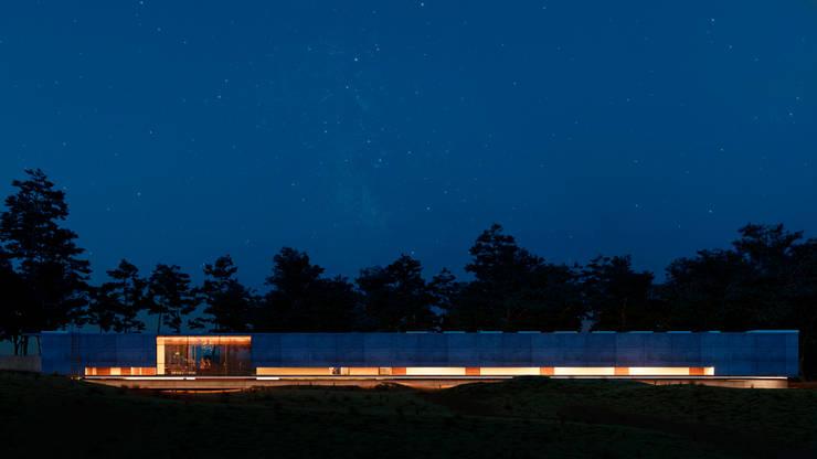 Posterior: Casas de campo de estilo  por TW/A Architectural Group