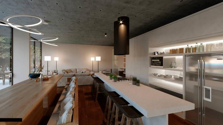 Comedor: Comedor de estilo  por TW/A Architectural Group