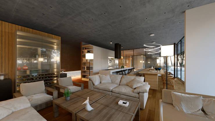 Sala: Salas de estilo  por TW/A Architectural Group