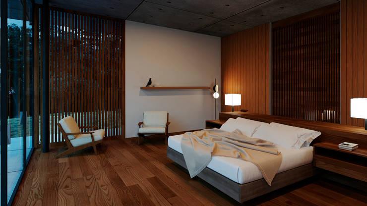 Recámara: Recámaras de estilo  por TW/A Architectural Group