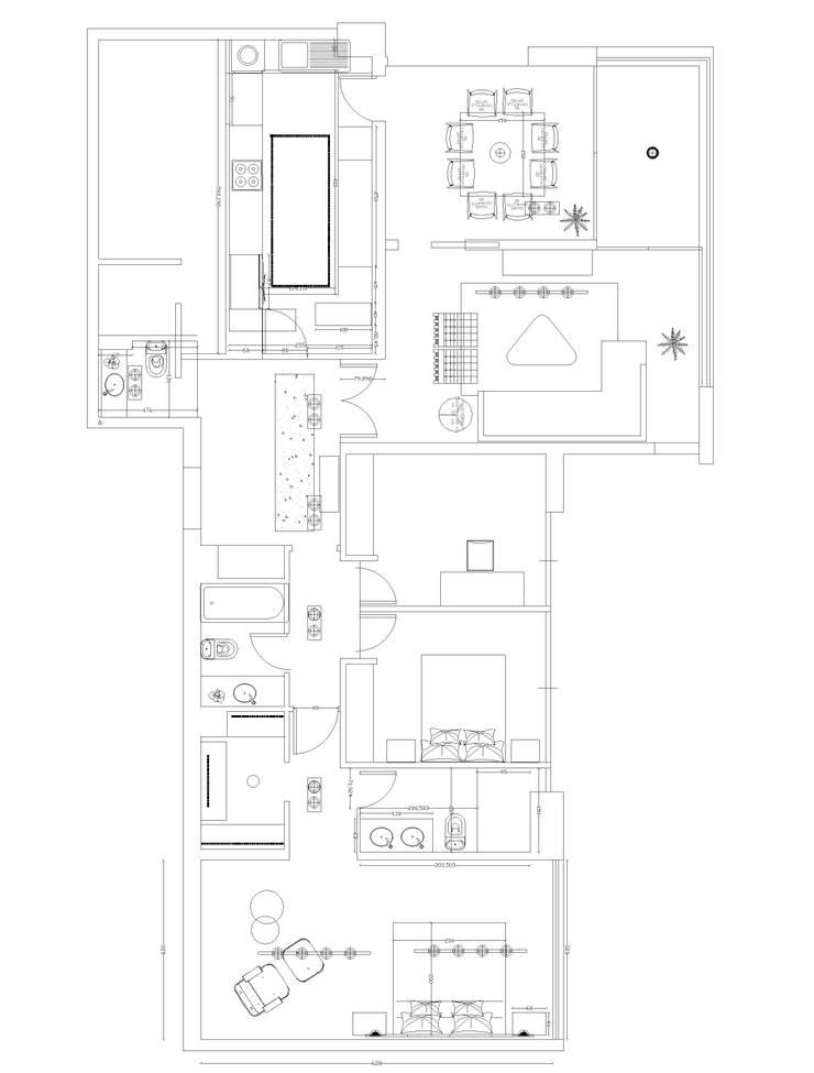PLANO :  de estilo  por Kaa Interior | Arquitectura de Interior | Santiago