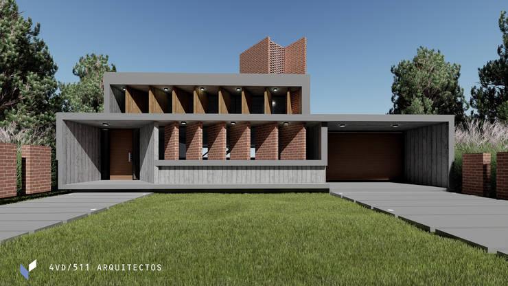 CASA B° J.D.J: Casas unifamiliares de estilo  por 4VD 511 ARQUITECTOS,