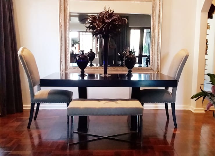 Effortless Suburban Elegance:  Dining room by CKW Lifestyle