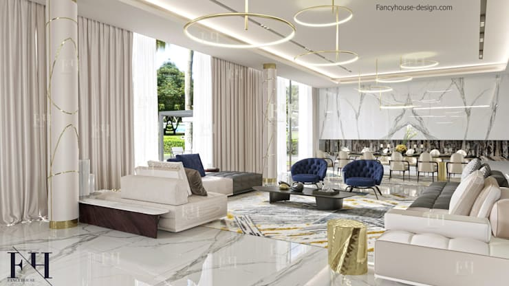modern interior living room exclusive design | Modern interior design for a luxury house in Dubai by ...