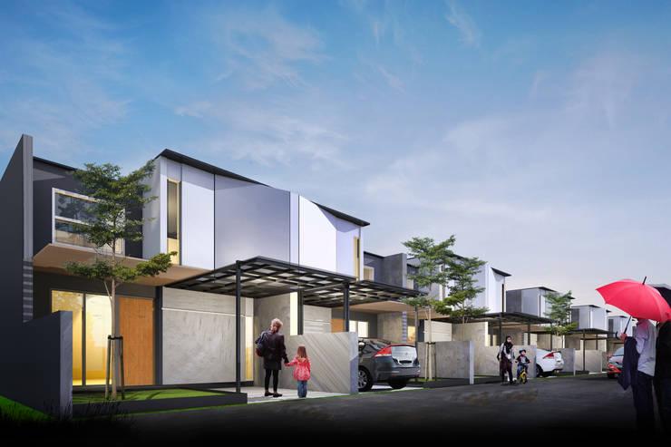 rumah 1 lantai:  Ruang Komersial by Atelier BAOU+