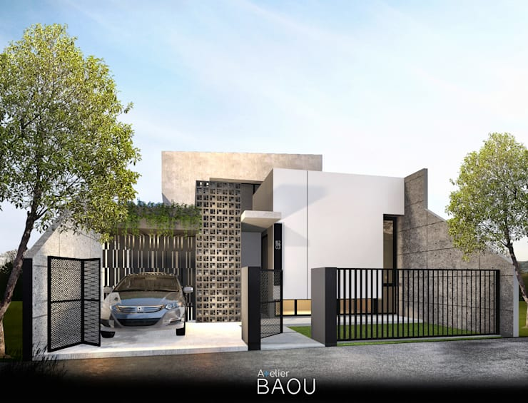 S HOUSE:  Rumah tinggal  by Atelier BAOU+