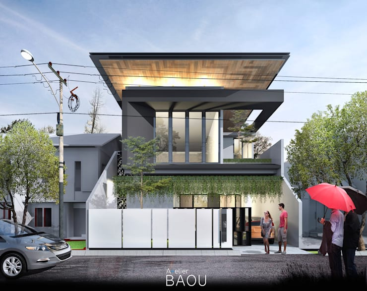 FS HOUSE:  Rumah tinggal  by Atelier BAOU+