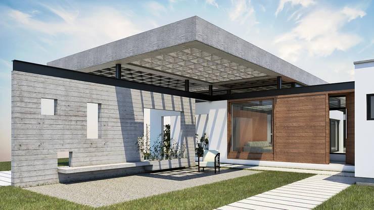Diseño de Casa en Cañitas 01 por 1.61 Arquitectos: Casas unifamiliares de estilo  por 1.61 Arquitectos