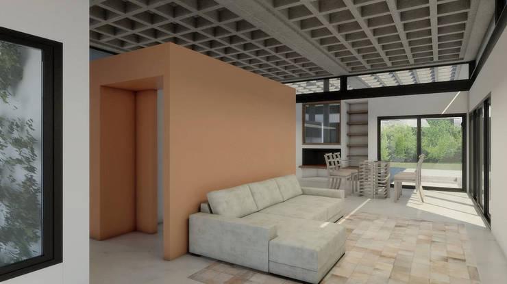 Diseño de Casa en Cañitas 01 por 1.61 Arquitectos: Livings de estilo  por 1.61 Arquitectos