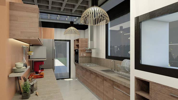 Diseño de Casa en Cañitas 01 por 1.61 Arquitectos: Cocinas a medida  de estilo  por 1.61 Arquitectos