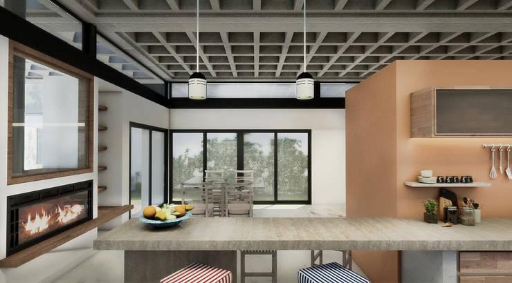 Diseño de Casa en Cañitas 01 por 1.61 Arquitectos: Comedores de estilo  por 1.61 Arquitectos