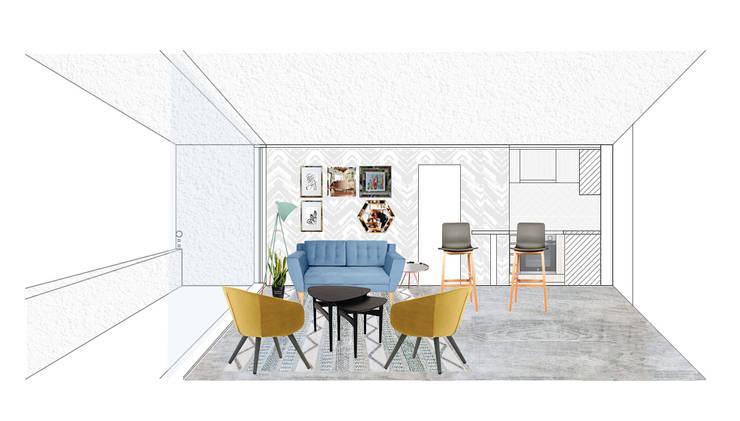 REMODELACION DEPARTAMENTO COMPLETO:  de estilo  por R-Innovare / Diseño de interiores y Arquitectura / Santiago y Viña del mar