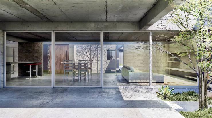Diseño de Casa en Cañitas por 1.61 Arquitectos: Casas unifamiliares de estilo  por 1.61 Arquitectos,