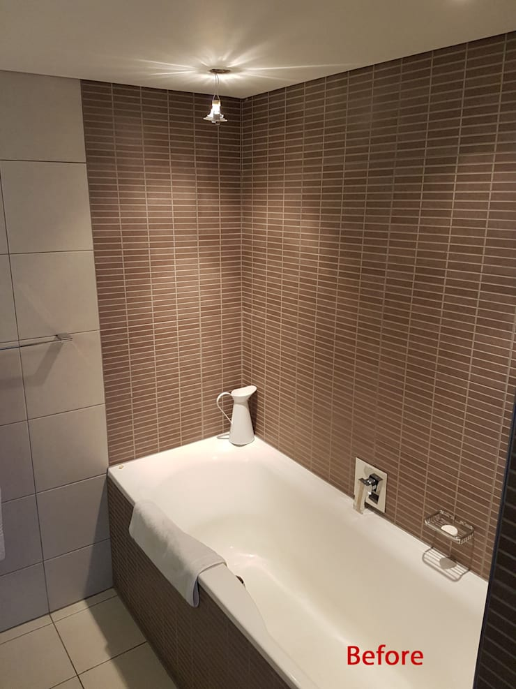 Bathroom Renovation:   by Inline Spaces Pty Ltd
