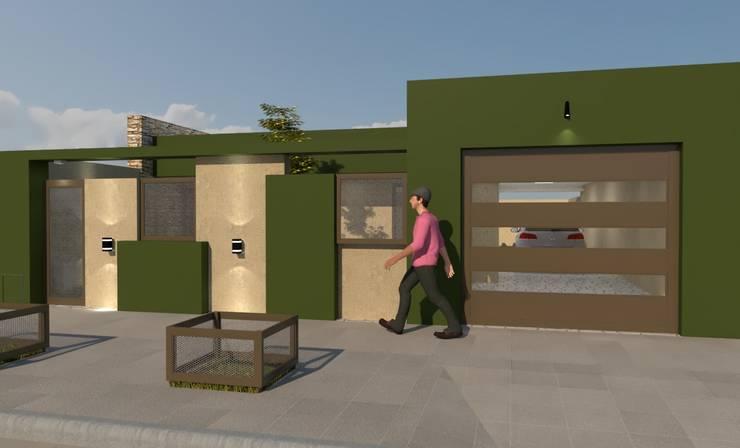 FACHADA M|M: Casas de estilo  por Group Arquitectura Online,