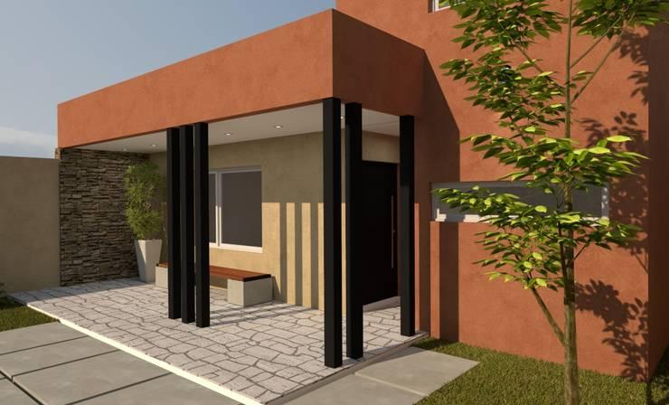 FACHADA P|P: Casas de estilo  por Group Arquitectura Online,