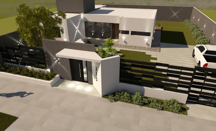 FACHADA F|I: Casas de estilo  por Group Arquitectura Online,