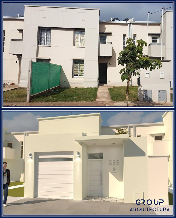 FACHADA L|A: Casas de estilo  por Group Arquitectura Online,