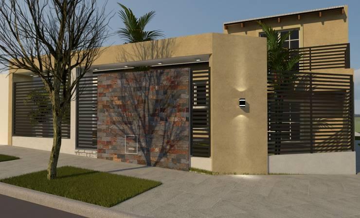 FACHADA V|C: Casas de estilo  por Group Arquitectura Online,