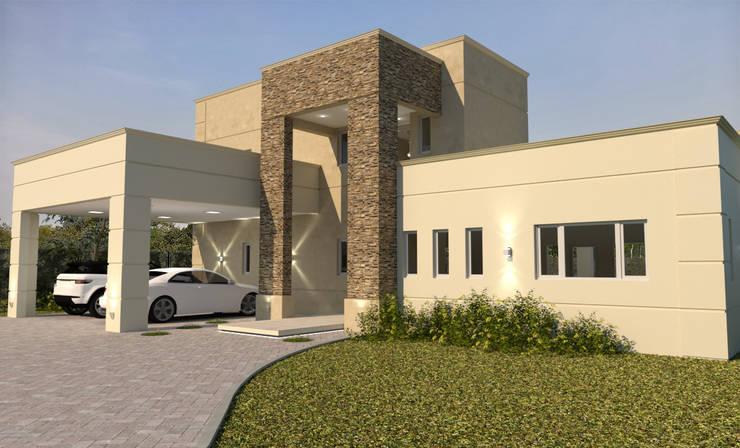 FACHADA M|G: Casas de estilo  por Group Arquitectura Online,