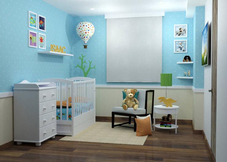 Alcoba para el Bebe:  de estilo  por Omar Interior Designer  Empresa de  Diseño Interior, remodelacion, Cocinas integrales, Decoración